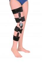 Stabilizator kolana z regulowanym kątem zgięcia, regulowana wysokość 858