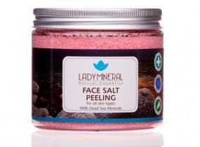 Peeling solny do twarzy Morze Martwe 250g różany