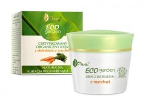 Certyfikowany organiczny krem z ekstraktem z marchwi.