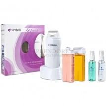 Podgrzewacz wosku z bazą Sonobella Deluxe + 2 woski, paski i kosmetyk