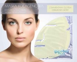 maska kolagenowa z drobinkami złota BeautyFace BeautyFace płaty hydrożelowe