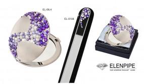 Lusterko z pilnikiem zdobione kryształkami Swarovski® crystals art. el-08.4, el-5108