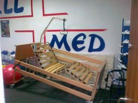 Łóżko medyczne elektryczne Burmeier Dali z materacem przeciwodleżynowym typu gofr
