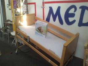 Łóżko rehabilitacyjne elektryczne Burmeier ARMINIA z materacem przeciwodleżynowym rurowym