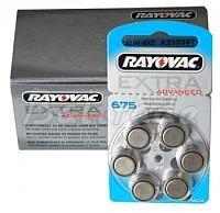 675/PR44 - 60 x baterie do aparatów słuchowych Rayovac Extra Advanced