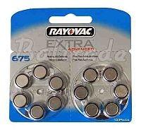 675/PR44 - 12 x baterie do aparatów słuchowych Rayovac Extra Advanced