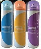 dezodorant do materiałów niebieski/fioletowy/pomarańczowy