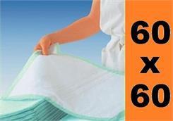Podkłady higieniczne na łóżko 60x60cm, 25szt -HURT
