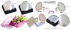 Lusterko kompaktowe kosmetyczne Swarovski crystals hand made prezent n