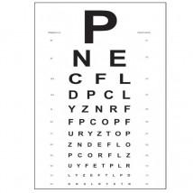 Tablica Snellena litery PCV