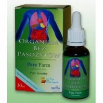 PARA FARM 100ml lub 30ml  - preparat ziołowy przeciw pasożytom w organ ORganizm bez Pasożytów w płynie